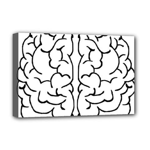 Brain Mind Gray Matter Thought Deluxe Canvas 18  x 12