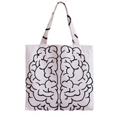 Brain Mind Gray Matter Thought Zipper Grocery Tote Bag