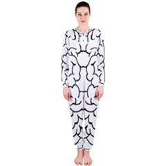 Brain Mind Gray Matter Thought Onepiece Jumpsuit (ladies)