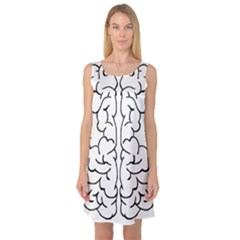 Brain Mind Gray Matter Thought Sleeveless Satin Nightdress