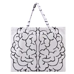 Brain Mind Gray Matter Thought Zipper Large Tote Bag