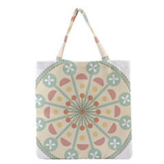 Blue Circle Ornaments Grocery Tote Bag