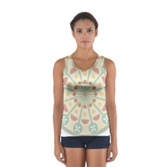 Blue Circle Ornaments Women s Sport Tank Top