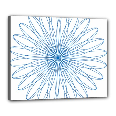 Spirograph Pattern Circle Design Canvas 20  X 16