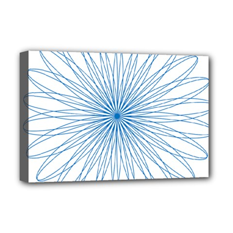 Spirograph Pattern Circle Design Deluxe Canvas 18  x 12