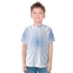 Spirograph Pattern Circle Design Kids  Cotton Tee