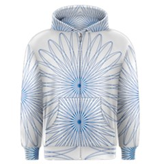Spirograph Pattern Circle Design Men s Zipper Hoodie