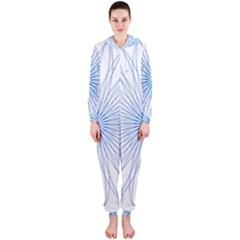 Spirograph Pattern Circle Design Hooded Jumpsuit (ladies)