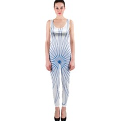 Spirograph Pattern Circle Design OnePiece Catsuit