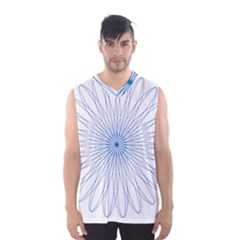 Spirograph Pattern Circle Design Men s Basketball Tank Top