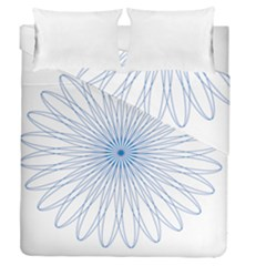 Spirograph Pattern Circle Design Duvet Cover Double Side (queen Size)