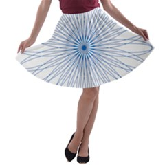 Spirograph Pattern Circle Design A Line Skater Skirt