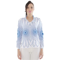 Spirograph Pattern Circle Design Wind Breaker (women)