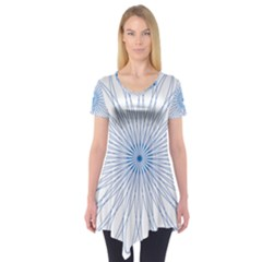 Spirograph Pattern Circle Design Short Sleeve Tunic