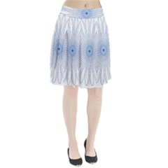 Spirograph Pattern Circle Design Pleated Skirt