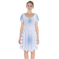 Spirograph Pattern Circle Design Short Sleeve Bardot Dress