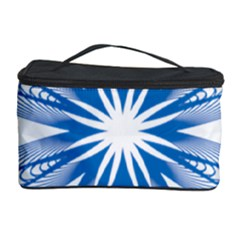 Blue Spirograph Pattern Circle Geometric Cosmetic Storage Case