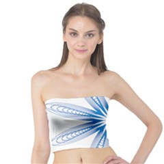 Blue Spirograph Pattern Circle Geometric Tube Top