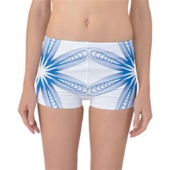 Blue Spirograph Pattern Circle Geometric Reversible Bikini Bottoms