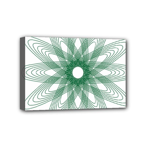 Spirograph Pattern Circle Design Mini Canvas 6  x 4