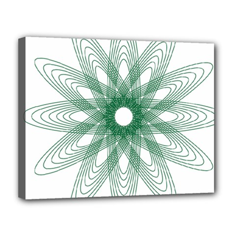 Spirograph Pattern Circle Design Canvas 14  X 11