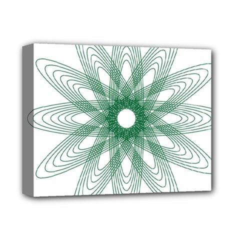 Spirograph Pattern Circle Design Deluxe Canvas 14  X 11