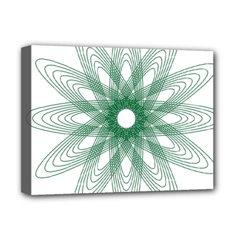 Spirograph Pattern Circle Design Deluxe Canvas 16  X 12