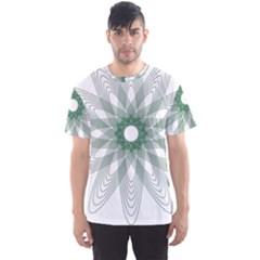 Spirograph Pattern Circle Design Men s Sport Mesh Tee