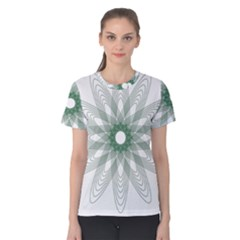 Spirograph Pattern Circle Design Women s Cotton Tee
