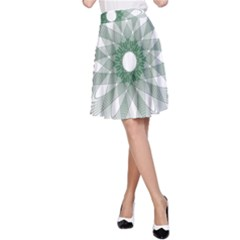 Spirograph Pattern Circle Design A Line Skirt