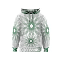 Spirograph Pattern Circle Design Kids  Zipper Hoodie
