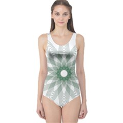 Spirograph Pattern Circle Design One Piece Swimsuit