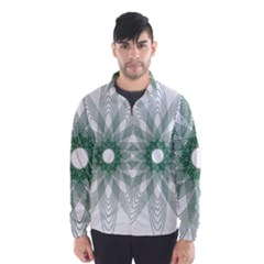 Spirograph Pattern Circle Design Wind Breaker (men)