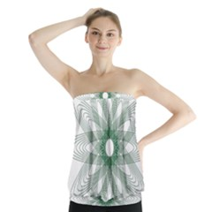 Spirograph Pattern Circle Design Strapless Top