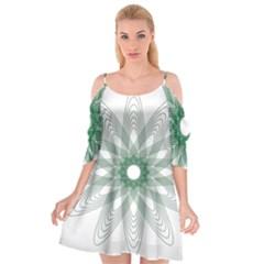 Spirograph Pattern Circle Design Cutout Spaghetti Strap Chiffon Dress