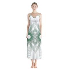 Spirograph Pattern Circle Design Chiffon Maxi Dress