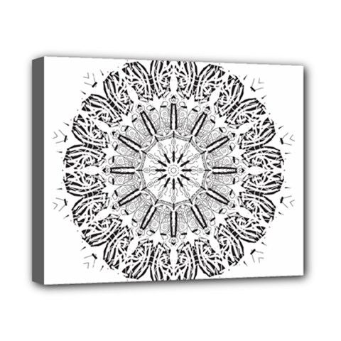 Art Coloring Flower Page Book Canvas 10  x 8
