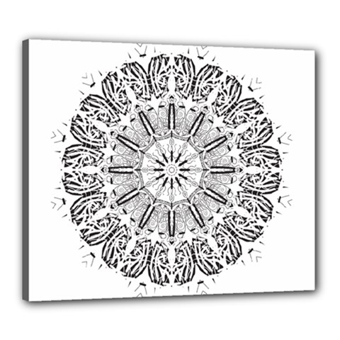 Art Coloring Flower Page Book Canvas 24  x 20