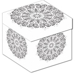 Art Coloring Flower Page Book Storage Stool 12