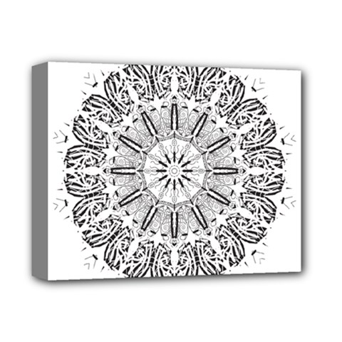 Art Coloring Flower Page Book Deluxe Canvas 14  x 11