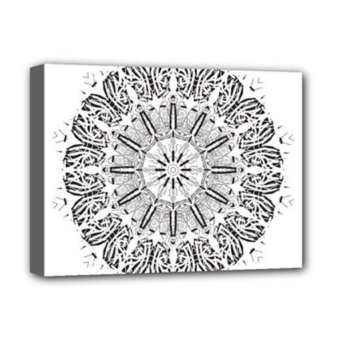 Art Coloring Flower Page Book Deluxe Canvas 16  x 12