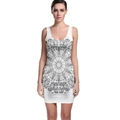Art Coloring Flower Page Book Sleeveless Bodycon Dress