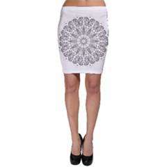 Art Coloring Flower Page Book Bodycon Skirt