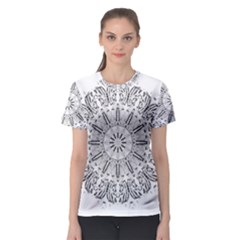 Art Coloring Flower Page Book Women s Sport Mesh Tee