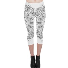 Art Coloring Flower Page Book Capri Leggings