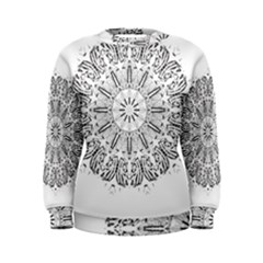 Art Coloring Flower Page Book Women s Sweatshirt
