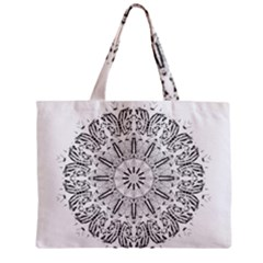 Art Coloring Flower Page Book Zipper Mini Tote Bag