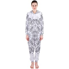 Art Coloring Flower Page Book Hooded Jumpsuit (ladies)