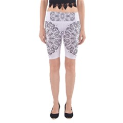 Art Coloring Flower Page Book Yoga Cropped Leggings