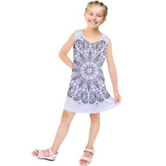 Art Coloring Flower Page Book Kids  Tunic Dress